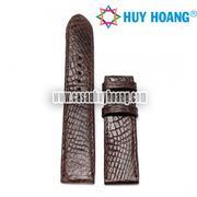 Dây đồng hồ da đà điểu Huy Hoàng màu nâu HH8402