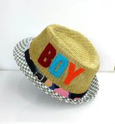 Mũ phớt cói BOY cho bé trai mùa hè đi chơi đi biển