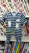 Body băng lông dài tay liền tất cho bé sơ sinh đến 12 tháng