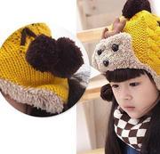 size 2 ~ 6 tuổi Mũ len sơn dương lót lông ấm cho bé