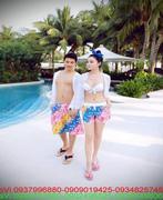 Quần đôi đi biển made thailan sành điệu nổi bật QC10