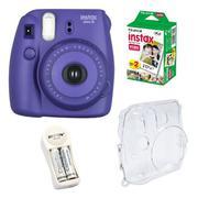 Bộ máy chụp ảnh lấy ngay Fujifilm Instax Mini 8 (Tím) + Hộp phim Fujifilm Instax Mini 20 tấm + 1 bộ ...