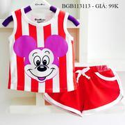 Bộ short thun in mickey dễ thương cho bé gái 1 - 8 tuổi BGB112118