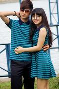Thun Couple Váy Kẻ Sọc