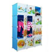 Tủ nhựa đa năng Tupper Cabinet 12 ngăn TC-12BL-C (Xanh cửa hoạt hình)