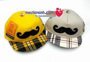 Mũ lưỡi trai vải hình râu Duy Ngọc hàng việt nam