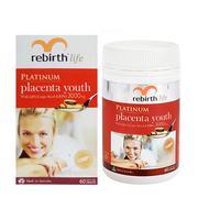 Viên uống Rebirth Platinum Placenta Youth hộp 60 viên