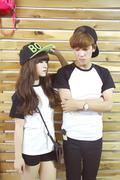 Áo RL couple trắng đen