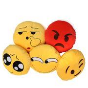 Lovely Yellow Round Emoji Smiley Emoticon Soft Cushion Pillow Stuffed Plush Doll - Intl