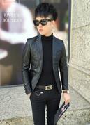 Áo khoác da nam vest body AKN347 ( tặng 1 áo thun )