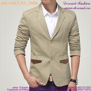 Áo khoác vest nam công sở túi phối màu sành điệu AKVN3