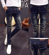 quần jeans nam túi rách