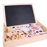 Bộ học toán và chữ cái với bảng nam châm, gỗ BR041