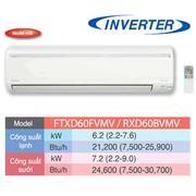 Điều hòa Daikin 2 chiều Invert FTXD60HVMV/RXD60HVMV - 1 chiều 21000 BTU