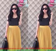 Chân váy xếp ly nhuyễn thời trang sành điệu CVX6