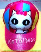 Nón hoạt hình mèo đeo nơ xinh iu NOKT23