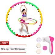 Vòng lắc eo giảm cân hoạt tính + Tặng máy rửa mặt massage 5 trong 1 - Vòng lắc eo giảm cân hoạt tính