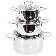 Bộ Nồi Happy Cook Delux - Nắp Kính HC06DLG