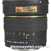 Bower 85mm f/1.4 Manual Focus Telephoto Lens for Canon EOS     Mfr# SLY85C