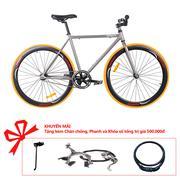 Xe đạp Topbike Fix khung màu ghi phát quang