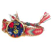 Leisure Fashion Peony Flower Woven Ladies Bracelet Watch