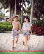 Quần đôi tình nhân mặc đi biển họa tiết nổi bật made thailan GC9