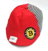 Mũ bê rê đỏ thêu chữ B