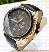 Đồng hồ nam dây da Ro 3 mặt phong cách sang trọng DHNN111
