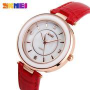 Đồng hồ nữ dây da Skmei 1059 (Đỏ )