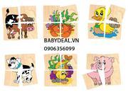 Ráp hình 10 con vật Winwintoys trò chơi phát triển trí tuệ cho bé từ 1 tuổi giúp bé nhận biết các co...