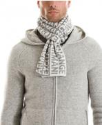 Logo Banded Scarf (Snow)