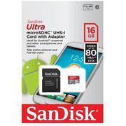 Thẻ nhớ MicroSDHC SanDisk Ultra 16GB 80MB/s (Xám)