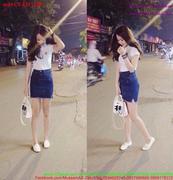 Chân váy jean nữ tính dễ thương CVJ35