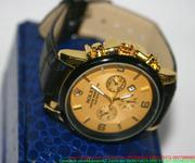 Đồng hồ dây da nam 3 mặt Ro phong cách sang trọng DHNN106