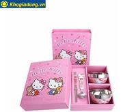 Bộ bát đũa Hello Kitty HK-01 (Hồng)