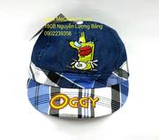 Mũ lưỡi trai Oggy kẻ xanh biển
