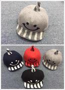 Mũ dạ kẻ vành lật size 1-3 tuổi