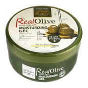 Dưỡng thể và mặt từ gel Olive Green Grapy Real Olive Velvet Dress Moisturizing Gel 500g