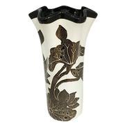 Bình hoa trang trí hoa sen miệng xếp-NNGS 351