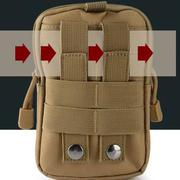 Túi đeo hông, thắt lưng đa năng + Tặng khăn phượt cao cấp H03-Nâu