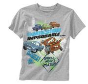 Disney Pixar Boys´ Cars Graphic Tee; Color: Gray Heather; Size: 8