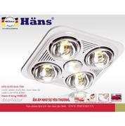 Đèn sưởi nhà tắm Hans 4 bóng H4B110