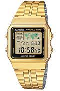 Đồng hồ nam dây thép không gỉ Casio A500WGA-9DF (Vàng đồng)