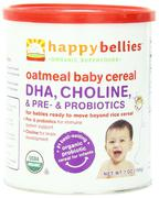 Bột ăn dặm Happy Bellies Organic Baby Cereals with DHA + Pre & Probiotics Oatmeal