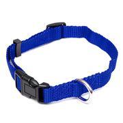 M Medium Soft Solid Comfortable Nylon Puppy Pet Dog Cat Adjustable Collar Strap - Intl