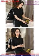 Bộ đồ thể thao nữ tay ngắn phối nón trẻ trung QATT397
