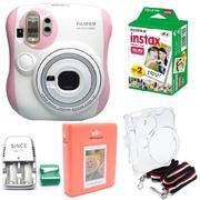 Bộ máy chụp ảnh lấy ngay Fujifilm Instax Mini 25 (Hồng) + hộp phim Fujifilm Instax Mini Mickey 10 tấ...