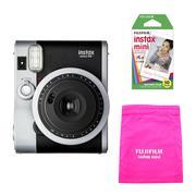 Máy ảnh lấy ngay Fujifilm Instax Mini 90 Neo Classic (Đen) + Film Mini 10 tấm + Túi rút