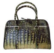 Túi xách cá sấu Hoa Cà da bụng - 01131