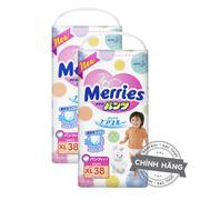 Combo 2 túi Tã-bỉm quần Merries XL38